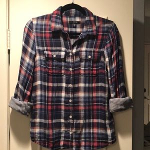 Joe's Jeans Plaid super soft Cotton Flannel size S
